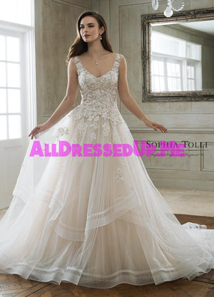 Sophia Tolli - Maia - Y11898 - Y11898LS - All Dressed Up, Bridal Gown - Mon Cheri - - Wedding Gowns Dresses Chattanooga Hixson Shops Boutiques Tennessee TN Georgia GA MSRP Lowest Prices Sale Discount