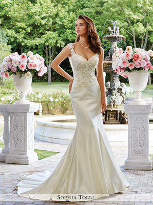 Last Dress In Stock; Size: 12, Color: Ivory - Sophia Tolli - Fontana - Y21662 - All Dressed Up - Bridal Prom Tuxedo - 12 - Wedding Gowns Dresses Chattanooga Hixson Shops Boutiques Tennessee TN Georgia GA MSRP Lowest Prices Sale Discount