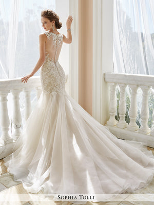 Last Dress In Stock; Size: 14, Color: Ivory - Sophia Tolli - Aprillia - Y21672 - All Dressed Up - Bridal Prom Tuxedo - 14 - Wedding Gowns Dresses Chattanooga Hixson Shops Boutiques Tennessee TN Georgia GA MSRP Lowest Prices Sale Discount