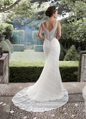 Last Dress In Stock; Size: 8, Color: Ivory/Light Champagne - Sophia Tolli - Y21742 - Aquarius - All Dressed Up - Bridal Prom Tuxedo - 8 - Wedding Gowns Dresses Chattanooga Hixson Shops Boutiques Tennessee TN Georgia GA MSRP Lowest Prices Sale Discount