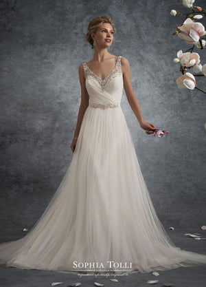 Last Dress In Stock; Size: 14, Color: Ivory - Sophia Tolli - Y21755 - Delta - All Dressed Up - Bridal Prom Tuxedo - 14 - Wedding Gowns Dresses Chattanooga Hixson Shops Boutiques Tennessee TN Georgia GA MSRP Lowest Prices Sale Discount