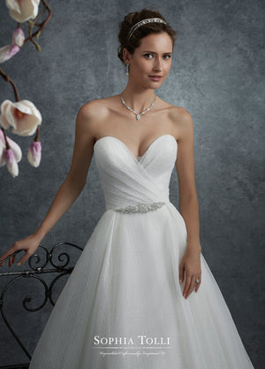 Last Dress In Stock; Size: 6, Color: Ivory - Sophia Tolli - Y21761B - Thiea - All Dressed Up - Bridal Prom Tuxedo - 6 - Wedding Gowns Dresses Chattanooga Hixson Shops Boutiques Tennessee TN Georgia GA MSRP Lowest Prices Sale Discount