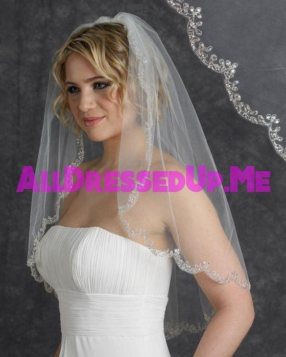 Berger - 4364 - All Dressed Up, Veil - Mon Cheri - - Edward Wedding Collection Costume Bridal Hand Crafted Made Quality Special Occasions Bling Chattanooga Hixson Shops Boutiques Tennessee TN Georgia GA MSRP Lowest Prices Sale Discount