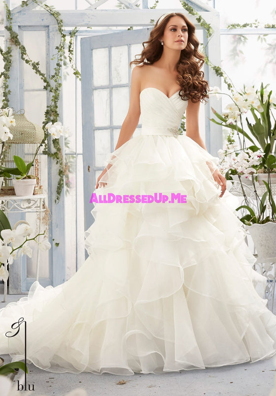 Blu - 5401 - All Dressed Up, Bridal Gown - Morilee - - Wedding Gowns Dresses Chattanooga Hixson Shops Boutiques Tennessee TN Georgia GA MSRP Lowest Prices Sale Discount