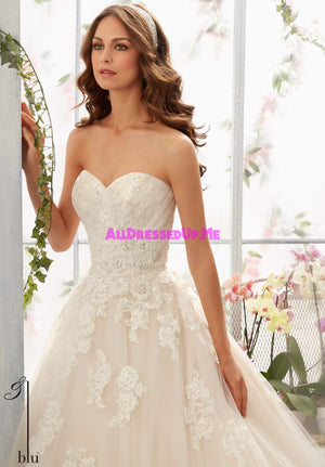 Blu - 5406 - All Dressed Up, Bridal Gown - Morilee - - Wedding Gowns Dresses Chattanooga Hixson Shops Boutiques Tennessee TN Georgia GA MSRP Lowest Prices Sale Discount