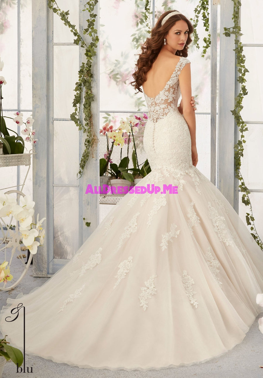 Blu - 5407 - All Dressed Up, Bridal Gown - Morilee - - Wedding Gowns Dresses Chattanooga Hixson Shops Boutiques Tennessee TN Georgia GA MSRP Lowest Prices Sale Discount