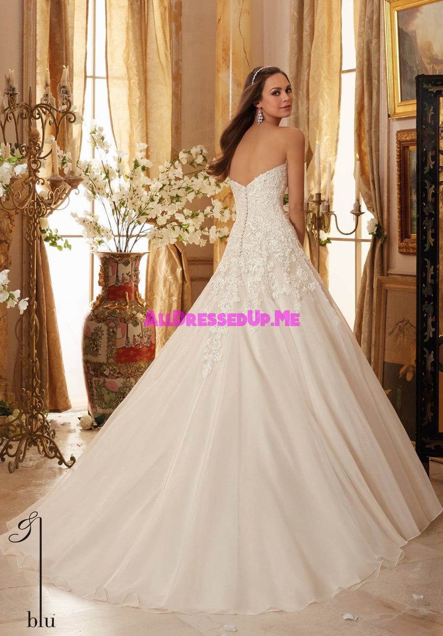 Blu - 5470 - All Dressed Up, Bridal Gown - Morilee - - Wedding Gowns Dresses Chattanooga Hixson Shops Boutiques Tennessee TN Georgia GA MSRP Lowest Prices Sale Discount