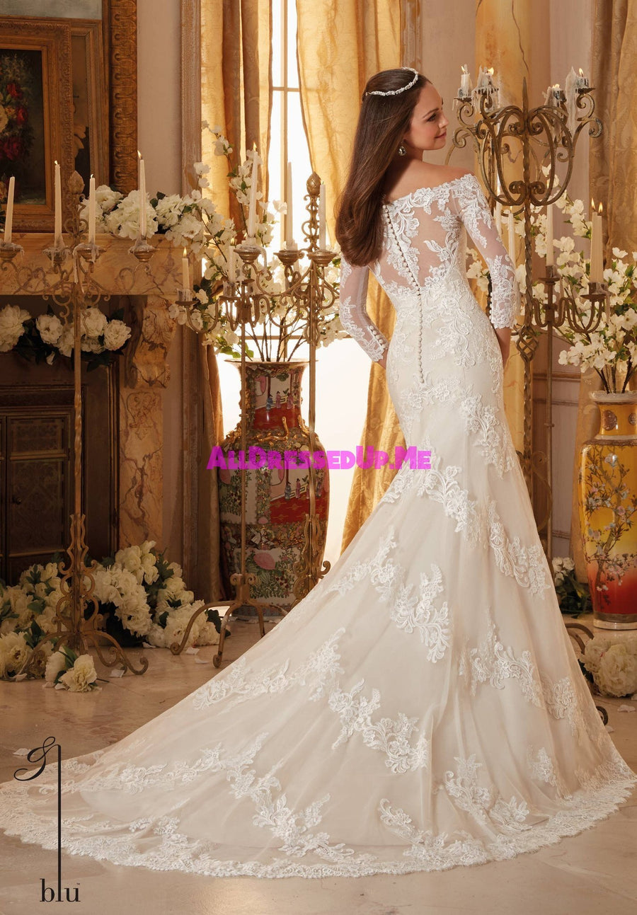 Blu - 5477 - Cheron's Bridal, Wedding Gown - Morilee - - Wedding Gowns Dresses Chattanooga Hixson Shops Boutiques Tennessee TN Georgia GA MSRP Lowest Prices Sale Discount