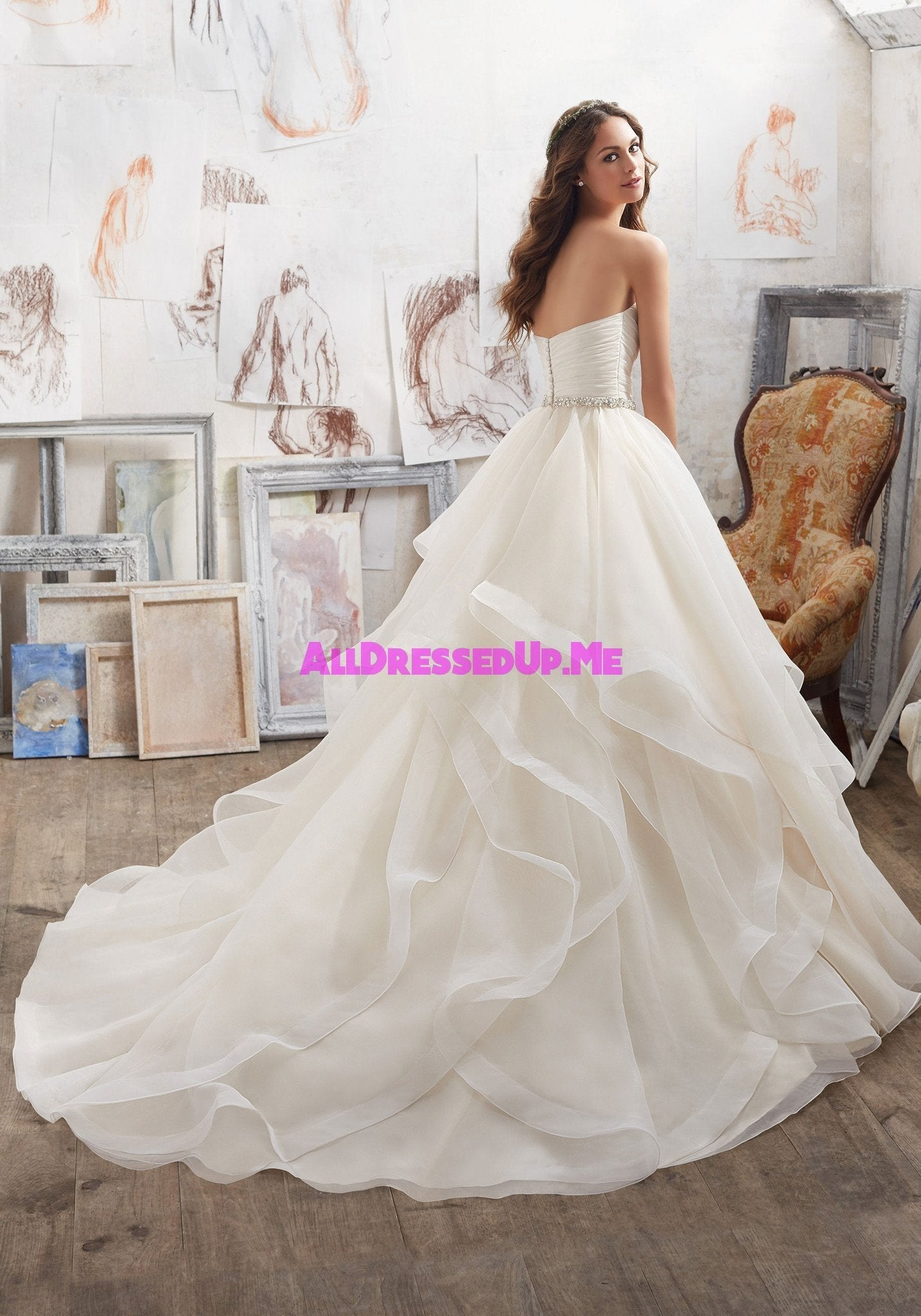 Blu marissa 5504 all dressed up bridal gown all for Wedding dresses chattanooga tn