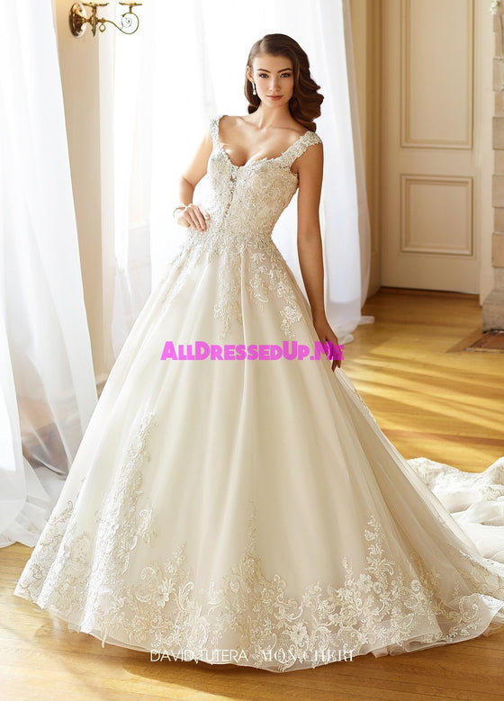 David Tutera - 217202W - Anna - All Dressed Up, Bridal Gown - Mon Cheri - - Wedding Gowns Dresses Chattanooga Hixson Shops Boutiques Tennessee TN Georgia GA MSRP Lowest Prices Sale Discount