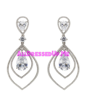 David Tutera Embellish - Amanda Earrings - All Dressed Up, Jewelry - Mon Cheri - - Costume Wedding Bridal Hand Crafted Made Quality Bling Special Occasions Chattanooga Hixson Shops Boutiques Tennessee TN Georgia GA MSRP Lowest Prices Sale Discount