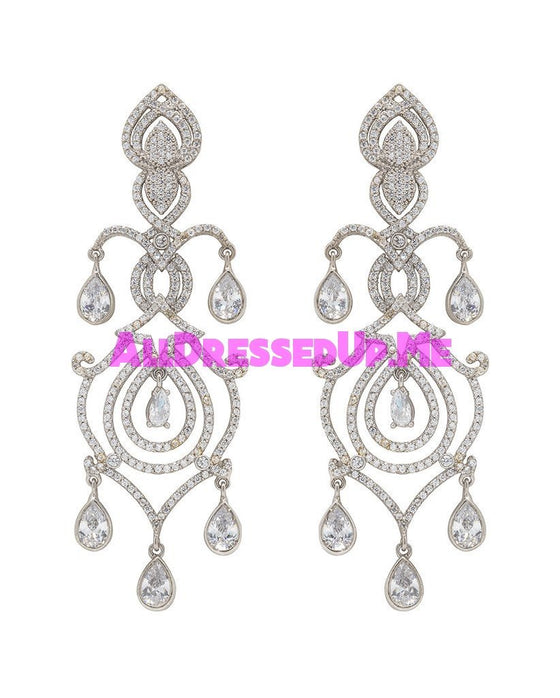 David Tutera Embellish - Cecilia Earrings - All Dressed Up, Jewelry - Mon Cheri - - Costume Wedding Bridal Hand Crafted Made Quality Bling Special Occasions Chattanooga Hixson Shops Boutiques Tennessee TN Georgia GA MSRP Lowest Prices Sale Discount