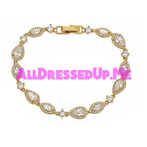 David Tutera Embellish - Claire Bracelet - All Dressed Up, Jewelry - Mon Cheri - Gold - Costume Wedding Bridal Hand Crafted Made Quality Bling Special Occasions Chattanooga Hixson Shops Boutiques Tennessee TN Georgia GA MSRP Lowest Prices Sale Discount