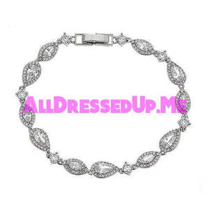 David Tutera Embellish - Claire Bracelet - All Dressed Up, Jewelry - Mon Cheri - Silver - Costume Wedding Bridal Hand Crafted Made Quality Bling Special Occasions Chattanooga Hixson Shops Boutiques Tennessee TN Georgia GA MSRP Lowest Prices Sale Discount