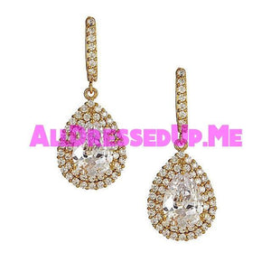 David Tutera Embellish - Claire Earrings - All Dressed Up, Jewelry - Mon Cheri - Gold - Costume Wedding Bridal Hand Crafted Made Quality Bling Special Occasions Chattanooga Hixson Shops Boutiques Tennessee TN Georgia GA MSRP Lowest Prices Sale Discount