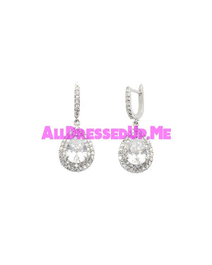 David Tutera Embellish - Claire Earrings - All Dressed Up, Jewelry - Mon Cheri - Silver - Costume Wedding Bridal Hand Crafted Made Quality Bling Special Occasions Chattanooga Hixson Shops Boutiques Tennessee TN Georgia GA MSRP Lowest Prices Sale Discount