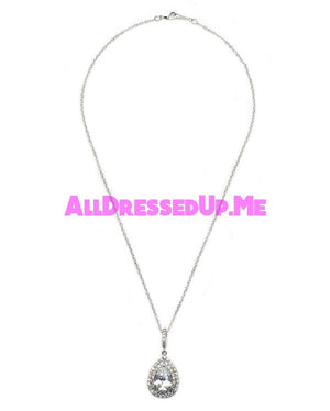 David Tutera Embellish - Claire Pendant - All Dressed Up, Jewelry - Mon Cheri - Silver - Costume Wedding Bridal Hand Crafted Made Quality Bling Special Occasions Chattanooga Hixson Shops Boutiques Tennessee TN Georgia GA MSRP Lowest Prices Sale Discount