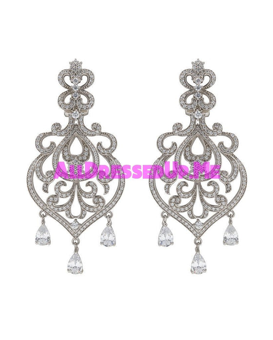 David Tutera Embellish - Claudia Earrings - All Dressed Up, Jewelry - Mon Cheri - - Costume Wedding Bridal Hand Crafted Made Quality Bling Special Occasions Chattanooga Hixson Shops Boutiques Tennessee TN Georgia GA MSRP Lowest Prices Sale Discount