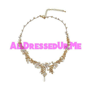 David Tutera Embellish - Cynthia Necklace - All Dressed Up, Jewelry - Mon Cheri - Gold - Costume Wedding Bridal Hand Crafted Made Quality Bling Special Occasions Chattanooga Hixson Shops Boutiques Tennessee TN Georgia GA MSRP Lowest Prices Sale Discount