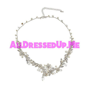 David Tutera Embellish - Cynthia Necklace - All Dressed Up, Jewelry - Mon Cheri - Silver - Costume Wedding Bridal Hand Crafted Made Quality Bling Special Occasions Chattanooga Hixson Shops Boutiques Tennessee TN Georgia GA MSRP Lowest Prices Sale Discount