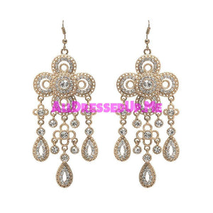 David Tutera Embellish - Gia Chandelier Earrings - All Dressed Up, Jewelry - Mon Cheri - - Costume Wedding Bridal Hand Crafted Made Quality Bling Special Occasions Chattanooga Hixson Shops Boutiques Tennessee TN Georgia GA MSRP Lowest Prices Sale Discount