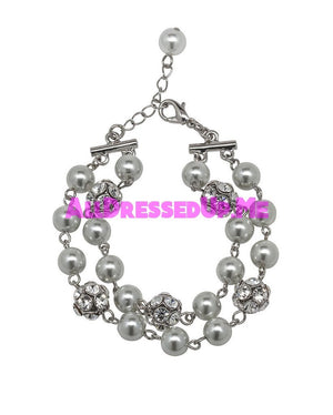 David Tutera Embellish - Gina Bracelet - All Dressed Up, Jewelry - Mon Cheri - Gray - Costume Wedding Bridal Hand Crafted Made Quality Bling Special Occasions Chattanooga Hixson Shops Boutiques Tennessee TN Georgia GA MSRP Lowest Prices Sale Discount