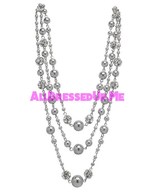 David Tutera Embellish - Gina Necklace - All Dressed Up, Jewelry - Mon Cheri - Gray - Costume Wedding Bridal Hand Crafted Made Quality Bling Special Occasions Chattanooga Hixson Shops Boutiques Tennessee TN Georgia GA MSRP Lowest Prices Sale Discount
