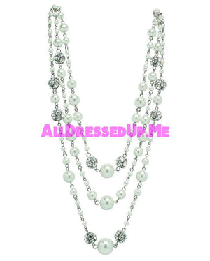 David Tutera Embellish - Gina Necklace - All Dressed Up, Jewelry - Mon Cheri - White - Costume Wedding Bridal Hand Crafted Made Quality Bling Special Occasions Chattanooga Hixson Shops Boutiques Tennessee TN Georgia GA MSRP Lowest Prices Sale Discount