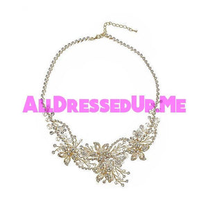 David Tutera Embellish - Jasmine Necklace - All Dressed Up, Jewelry - Mon Cheri - - Costume Wedding Bridal Hand Crafted Made Quality Bling Special Occasions Chattanooga Hixson Shops Boutiques Tennessee TN Georgia GA MSRP Lowest Prices Sale Discount