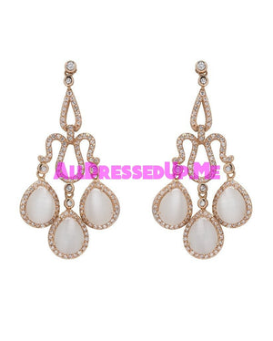 David Tutera Embellish - Josephine Cats Eye Earrings - All Dressed Up, Jewelry - Mon Cheri - - Costume Wedding Bridal Hand Crafted Made Quality Bling Special Occasions Chattanooga Hixson Shops Boutiques Tennessee TN Georgia GA MSRP Lowest Prices Sale Discount