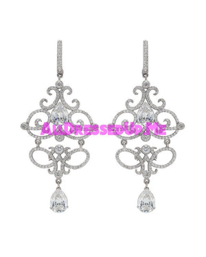 David Tutera Embellish - Josephine Scroll Earrings - All Dressed Up, Jewelry - Mon Cheri - - Costume Wedding Bridal Hand Crafted Made Quality Bling Special Occasions Chattanooga Hixson Shops Boutiques Tennessee TN Georgia GA MSRP Lowest Prices Sale Discount