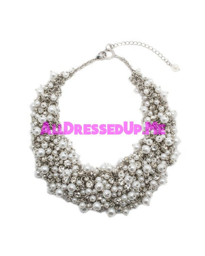 David Tutera Embellish - Kendall Necklace - All Dressed Up, Jewelry - Mon Cheri - Silver - Costume Wedding Bridal Hand Crafted Made Quality Bling Special Occasions Chattanooga Hixson Shops Boutiques Tennessee TN Georgia GA MSRP Lowest Prices Sale Discount
