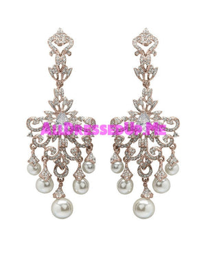David Tutera Embellish - Shayla Earrings - All Dressed Up, Jewelry - Mon Cheri - Rose - Costume Wedding Bridal Hand Crafted Made Quality Bling Special Occasions Chattanooga Hixson Shops Boutiques Tennessee TN Georgia GA MSRP Lowest Prices Sale Discount