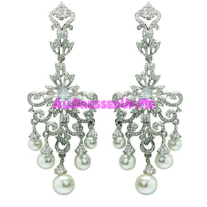 David Tutera Embellish - Shayla Earrings - All Dressed Up, Jewelry - Mon Cheri - Silver - Costume Wedding Bridal Hand Crafted Made Quality Bling Special Occasions Chattanooga Hixson Shops Boutiques Tennessee TN Georgia GA MSRP Lowest Prices Sale Discount