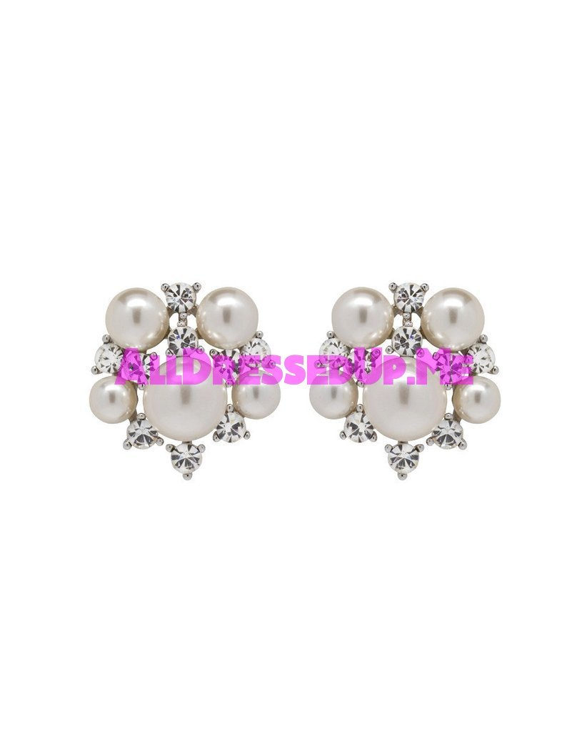 David Tutera Embellish - Yasmeen Button Earrings - All Dressed Up, Jewelry - Mon Cheri - - Costume Wedding Bridal Hand Crafted Made Quality Bling Special Occasions Chattanooga Hixson Shops Boutiques Tennessee TN Georgia GA MSRP Lowest Prices Sale Discount