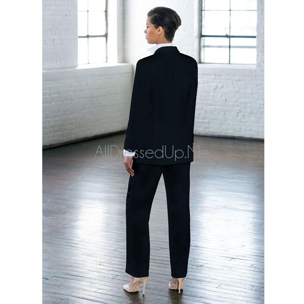 Little Black Tux, Jacket - 6035LL - All Dressed Up, Tuxedo-Tuxedo-Little Black Tux-0-Black-All Dressed Up - Bridal Prom Tuxedo