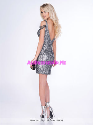 Ellie Wilde - MCS21669 - All Dressed Up, Prom Dress - - Dresses Two Piece Cut Out Sweetheart Halter Low Back High Neck Print Beaded Chiffon Jersey Fitted Sexy Satin Lace Jeweled Sparkle Shimmer Sleeveless Stunning Gorgeous Modest See Through Transparent Glitter Special Occasions Event Chattanooga Hixson Shops Boutiques Tennessee TN Georgia GA MSRP Lowest Prices Sale Discount