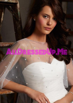 ML Accessories - 11010 - All Dressed Up, Bridal Cape - Morilee - Chattanooga TN's All Dressed Up Bridal Shop / Bridal Boutique offers Wedding Gowns, Prom Dresses & Tuxedo Rentals