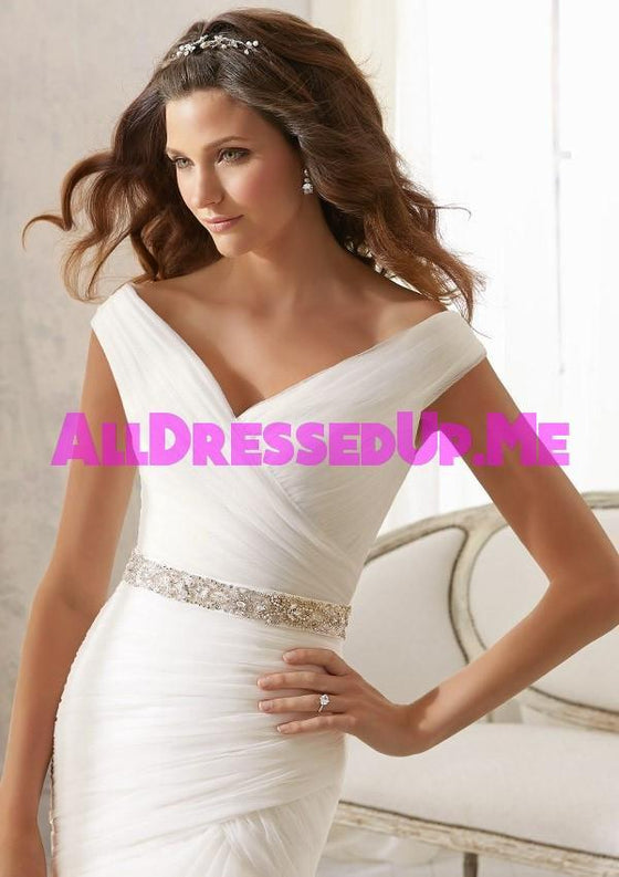 ML Accessories - 11054 - All Dressed Up, Bridal Sash - Morilee - Chattanooga TN's All Dressed Up Bridal Shop / Bridal Boutique offers Wedding Gowns, Prom Dresses & Tuxedo Rentals