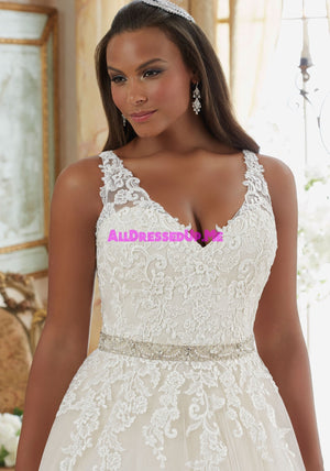 ML Accessories - 11247 - All Dressed Up, Bridal Belt - Morilee - Chattanooga TN's All Dressed Up Bridal Shop / Bridal Boutique offers Wedding Gowns, Prom Dresses & Tuxedo Rentals