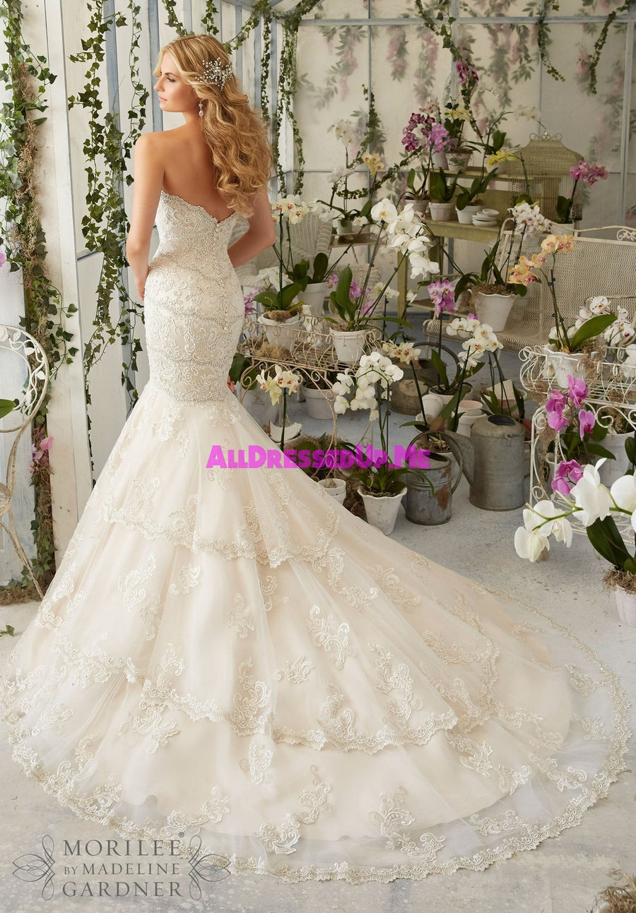 Morilee - 2801 - Cheron's Bridal, Wedding Gown - Morilee - - Wedding Gowns Dresses Chattanooga Hixson Shops Boutiques Tennessee TN Georgia GA MSRP Lowest Prices Sale Discount