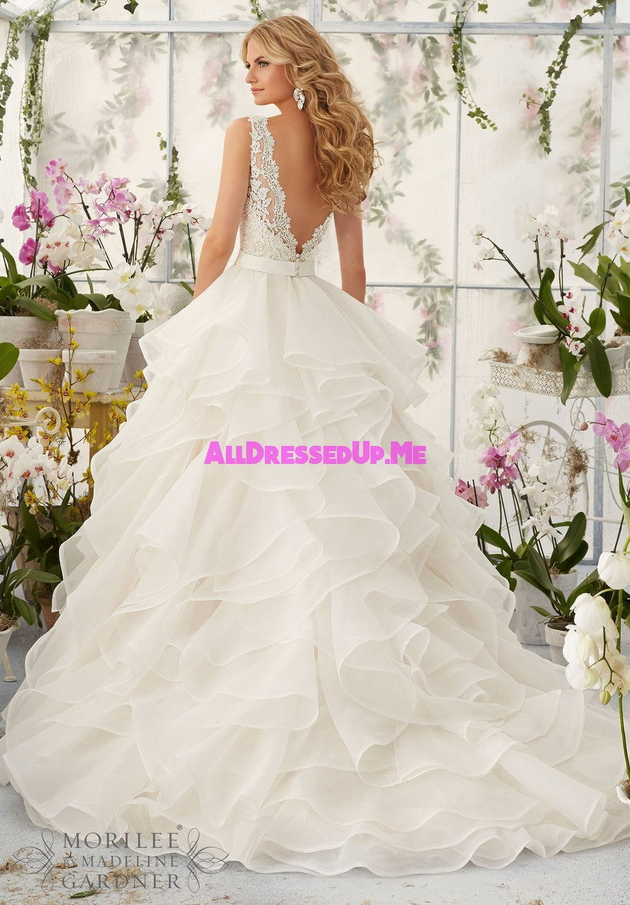 Morilee - 2805 - Cheron's Bridal, Wedding Gown - Morilee - - Wedding Gowns Dresses Chattanooga Hixson Shops Boutiques Tennessee TN Georgia GA MSRP Lowest Prices Sale Discount