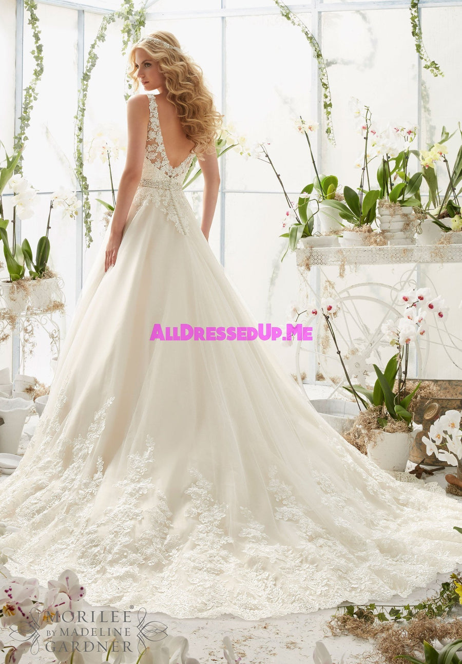 Morilee - 2821 - Cheron's Bridal, Wedding Gown - Morilee - - Wedding Gowns Dresses Chattanooga Hixson Shops Boutiques Tennessee TN Georgia GA MSRP Lowest Prices Sale Discount