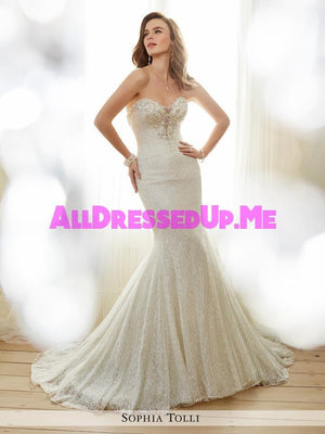 Sophia Tolli - Angelique - Y11708 - All Dressed Up, Bridal Gown - Mon Cheri - - Wedding Gowns Dresses Chattanooga Hixson Shops Boutiques Tennessee TN Georgia GA MSRP Lowest Prices Sale Discount