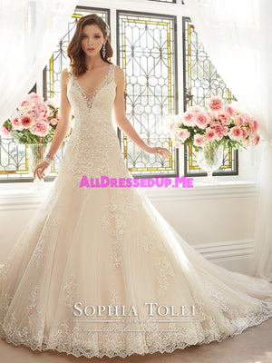 Sophia Tolli - Aricia - Y11641 - All Dressed Up, Bridal Gown - Mon Cheri - - Wedding Gowns Dresses Chattanooga Hixson Shops Boutiques Tennessee TN Georgia GA MSRP Lowest Prices Sale Discount
