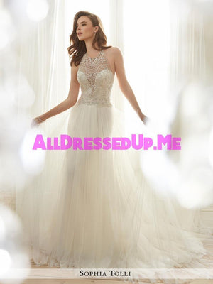 Sophia Tolli - Celestia - Y11714 - All Dressed Up, Bridal Gown - Mon Cheri - - Wedding Gowns Dresses Chattanooga Hixson Shops Boutiques Tennessee TN Georgia GA MSRP Lowest Prices Sale Discount