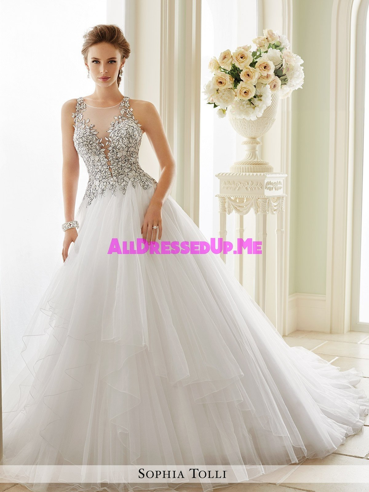 Sophia tolli dolce vita y21655 all dressed up bridal for Wedding dresses chattanooga tn