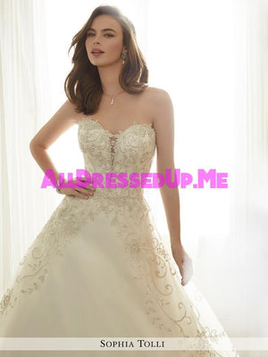 Sophia Tolli - Emeline - Y11709 - All Dressed Up, Bridal Gown - Mon Cheri - - Wedding Gowns Dresses Chattanooga Hixson Shops Boutiques Tennessee TN Georgia GA MSRP Lowest Prices Sale Discount