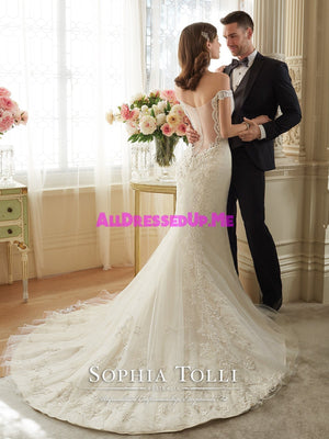 Sophia Tolli - Loraina - Y11634 - All Dressed Up, Bridal Gown - Mon Cheri - - Wedding Gowns Dresses Chattanooga Hixson Shops Boutiques Tennessee TN Georgia GA MSRP Lowest Prices Sale Discount