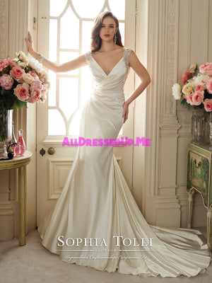 Sophia Tolli - Malika - Y11631 - All Dressed Up, Bridal Gown - Mon Cheri - - Wedding Gowns Dresses Chattanooga Hixson Shops Boutiques Tennessee TN Georgia GA MSRP Lowest Prices Sale Discount